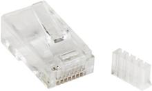 Modulär Cat 6 RJ45-kontakt för solidtråd - 50-pack
