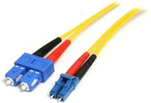 1 m single-mode duplex fiberpatchkabel LC-SC