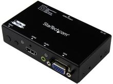 2x1 HDMI + VGA till HDMI-konverteringsswitch med automatisk och prioriterad växling - 1080p