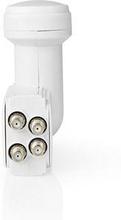 Nedis LNB | Quad | Utgångsanslutning: 4x F-kontakt | Brusfaktor omfång: 0.85 dB | Omvandlingsförstärkning: 55-67 dB | Vit