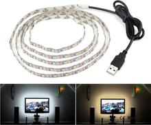 Usb-käyttöinen tv-valaistus 1 metri - Lämmin valkoinen