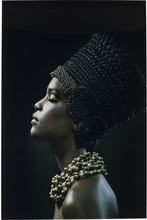 KARE DESIGN Billede, Glass Royal Headdress Profile 150 x 100 cm