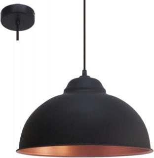 EGLO Taklampe TRURO 2 svart og kobber 49247