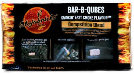 """Rökbricketter """"Mojobricks Bar-B-Cubes"""", Competition Blend"""