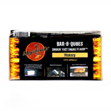 """Rökbricketter """"Mojobricks Bar-B-Cubes"""", Hickory"""