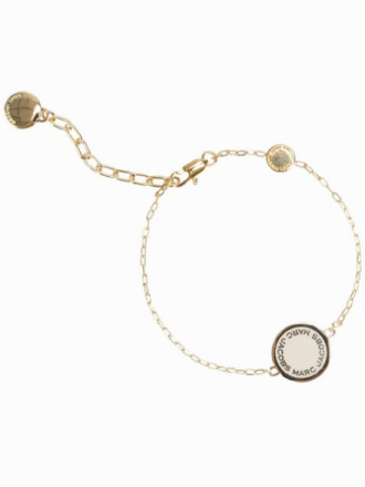 Marc Jacobs Enamel Logo Disc Bracelet Cream