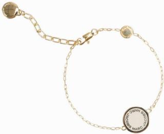 Marc Jacobs Enamel Logo Disc Bracelet Armband Cream