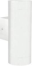 Nordlux Tin Maxi Utendørs dobbel vegglampe, Hvit
