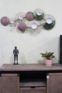 Viala väggdekoration - Lila/grön