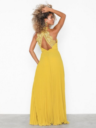 NLY Eve Pleated Lace Gown Gul