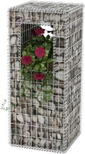 vidaXL Gabionkorg stolpform med planteringsmöjlighet stål 50x50x120 cm