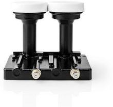 Nedis LNB | Twin Monoblock 4,3 ° | Utgångsanslutning: 2x F-kontakt | Brusfaktor omfång: 0.85 dB | Omvandlingsförstärkning: 52-66 dB | Svart