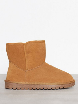 Duffy Leather Warm Boots Camel