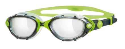 Zoggs Predator Flex Titanium Reactor - Simglasögon Green/Silver/Grey