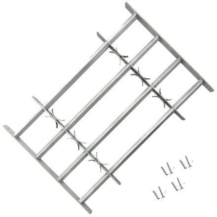 vidaXL Justerbart Sikkerhedsgitter til Vinduer med 4 Tværstænger 500-650 mm