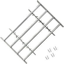 vidaXL Justerbart Fönstergaller för fönster med 4 stänger 500-650 mm