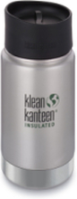 Klean Kanteen 355ml Vacuum Insulated Café Cap Brushed Stainless