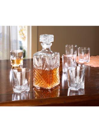 Whiskey-sett i 7 deler Van Well ufarget