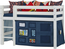 Hoppekids CREATOR draperi till säng - Flera storlekar - Orion Blue