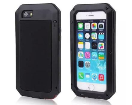 Army SHOCK-DROP Aluminum-fodral för iPhone 6/6S Plus SVART