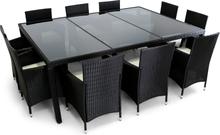 Stor matgrupp utemöbler   10 stolar   Dynor ingår