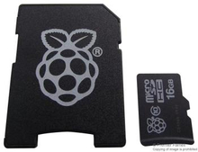 Raspberry Pi MicroSD Card - Pre installed NOOBs, Transcend 16GB Class 10
