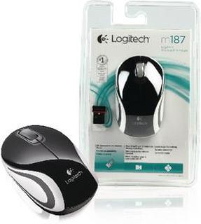 Logitech Trådlös Mouse Smarta funktioner i skrivarprogrammet 3 Knappar Svart