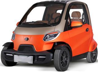 Elektrisk mopedbil - Orange
