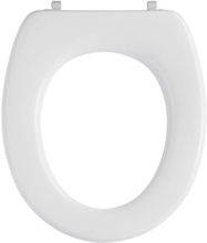 Pressalit Toiletsæde T 2 u/låg Hvid Universalbeslag, lang, rustfri