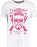 YOURTURN BARBERSHOP Tshirt med tryck white