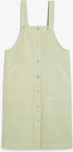 Denim dungaree dress - Green