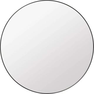 Gubi Wall Mirror Round Ø110 Black Brass - GUBI - GUBI