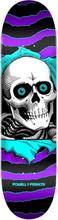 "Powell Peralta Ripper Birch 8.0"" Skateboard Deck Skate Skateboard Deck one off purple turquoise Uni"