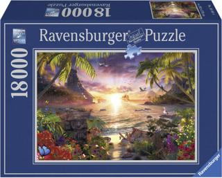 Ravensburger Pussel, Solnedgång i Paradiset 18000 bitar