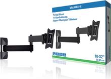 Helt rörligt TV-väggfäste 10 - 32 tum/25 - 82 cm 30 kg 2-steg