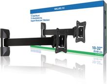 Helt rörligt TV-väggfäste 10 - 32 tum/25 - 82 cm 30 kg 1-steg