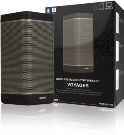 Trådlös Bluetooth-högtalare svart