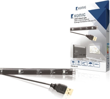 USB tv 1 lysdiodremsa för stämningsbelysning 90 cm kall vit