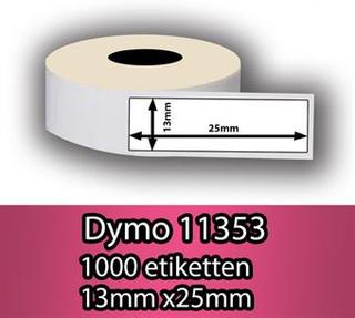 DYMO labels 11353 (25mm x 13mm) 1000 stk. labels (Dymo S0722530)