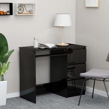 vidaXL Skrivebord høyglans svart 90x45x76 cm sponplate