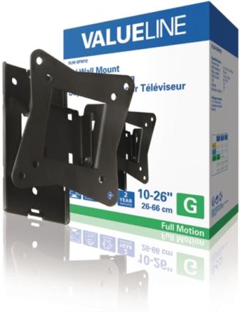 Helt rörligt TV-väggfäste 10 - 26 tum/25 - 66 cm 15 kg