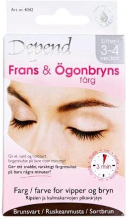 Depend frans & ögonbrynsfärg brunsvart