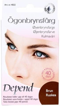 Depend ögonbrynsfärg brun