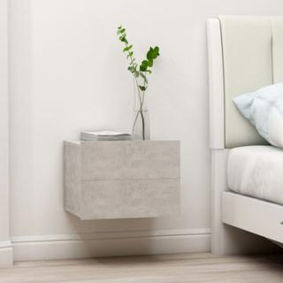 Sängbord betonggrå 40x30x30 cm spånskiva