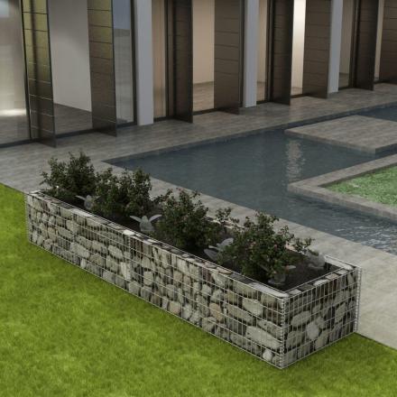vidaXL gabion-plantekasse i stål 360 x 90 x 50 cm