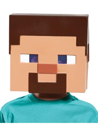Maske Steve Minecraft til børn One-Size - Vegaoo.dk