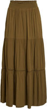 VILA Loose Fit Maxi Skirt Women Green