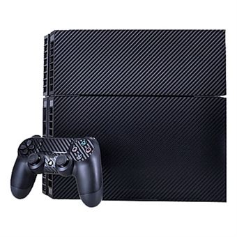 Carbon Fiber Stickers til PS4 Spillekonsol - Navy Blå