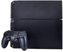 Carbon Fiber Stickers til PS4 Spillekonsol - Navy Blå