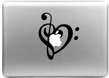 Macbook Sticker - Hjerte
